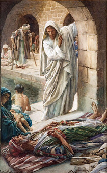 Harold Copping At The Pool Of Bethesda 700
